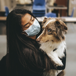 Student with Dog