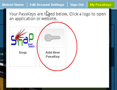 PassKey Help - Suggest New PassKey Screen1
